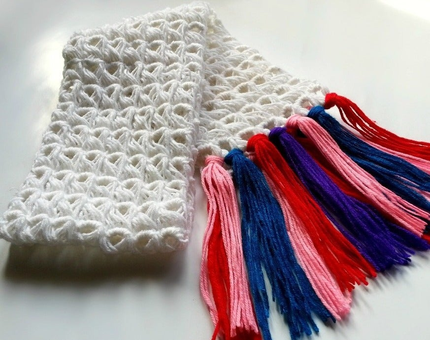 Diy Broomstick Crochet Scarf 7 Steps With Pictures