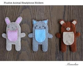 Plushie Animal Earphone Holders