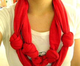 DIY: Knotted Double-Layered Scarf from XL Men's tee