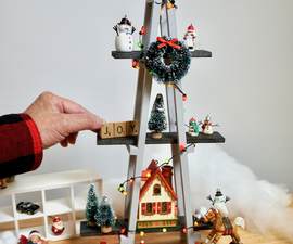 Miniature A-frame Christmas Tree for Display