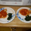 Talapia Tomato Chutney w/ Wilted Greens for 2