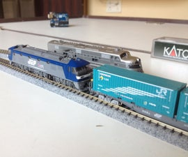 Automated Model Railway Layout Running Two Trains