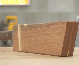 Magnetic Wood Sheath for a Kitchen Knife