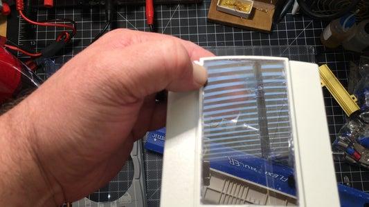 Prep the Frame-Cut Out All the Holes in Case & Cut/Glue in Plaskolite (plexiglass) for Face.