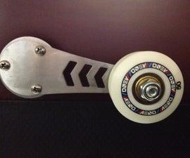 Custom window winder using skateboard wheels