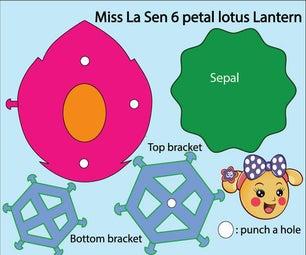 Miss La Sen 6 Petal Lotus Lantern
