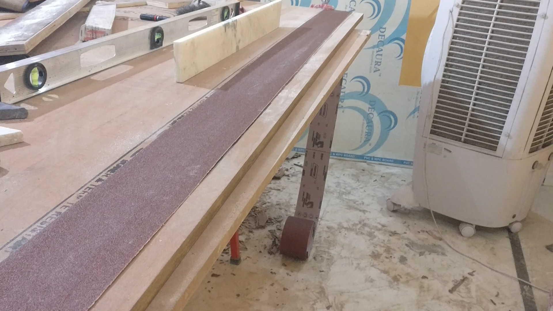 Picture of ​Sanding and Straightening the Strips