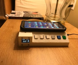 Bedside Home Control Panel W/ Wireless Charger
