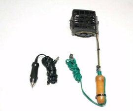 DIY 3-In-1 Hand-Held Fan: Car Cooler, Solder Fume Extractor, Hair Dryer