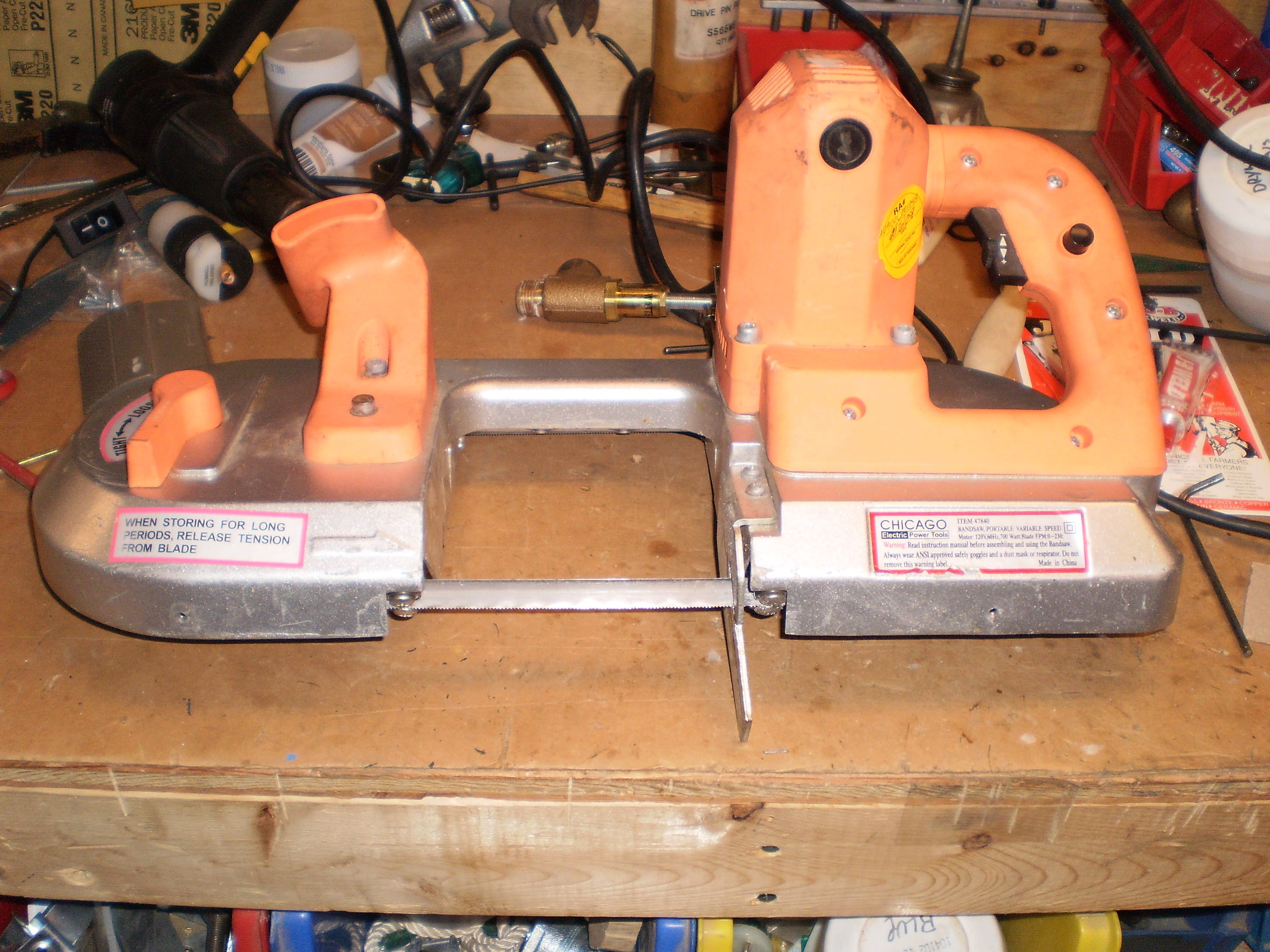 How To Repair The Drive Wheels On A Chicago Electric Portable Band Saw 5 Steps Instructables