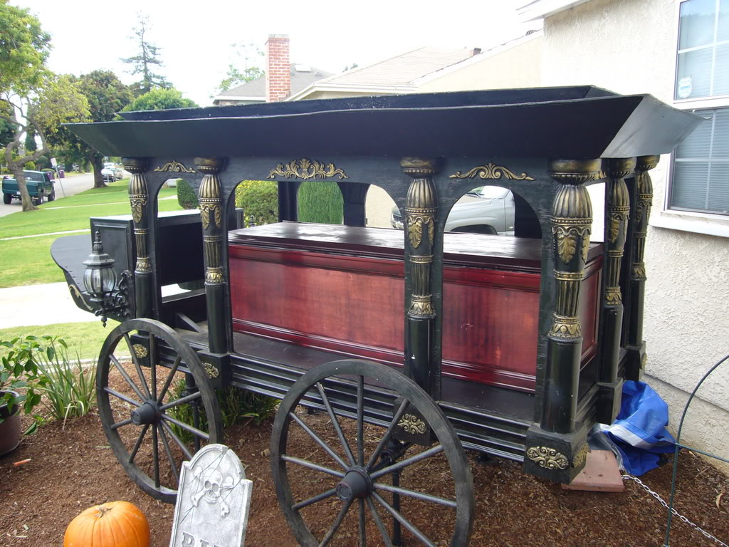 Picture of Antique Horse Drawn Hearse - Halloween Prop Replica