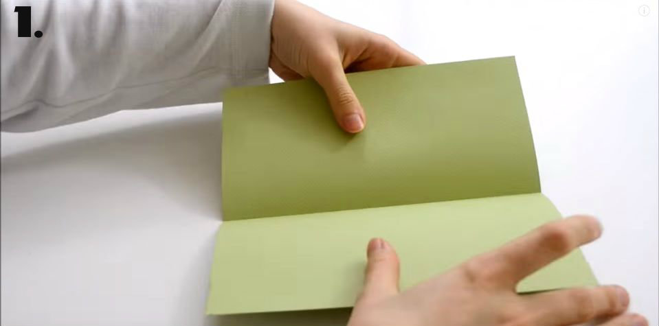 Picture of Take One Green Square and Fold It.