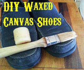DIY Waxed Canvas Shoes
