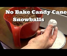 No Bake Candy Cane Snowballs