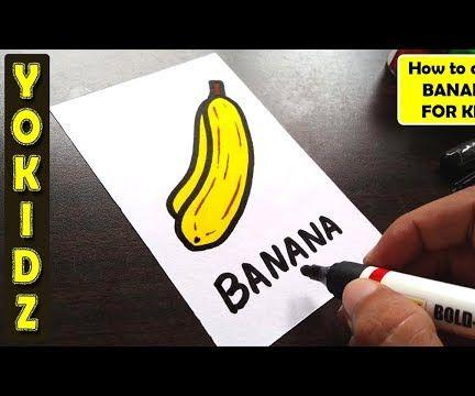 HOW TO DRAW BANANA FRUIT