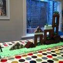 Playable Angry Birds birthday cake