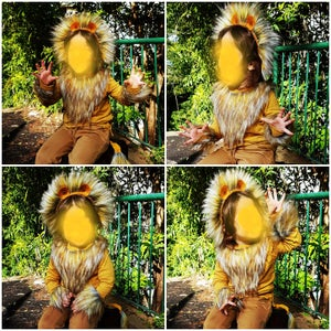 Toddler Lion Costume, No Stitching Needed!