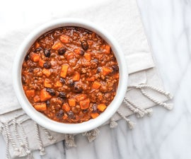 chorizo and sweet potato chili recipe