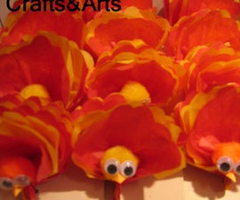 Tissue Paper Turkey - make turkey without the oven!