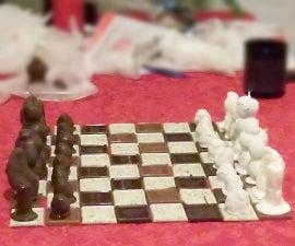 Chocolate Fruit Chess Set