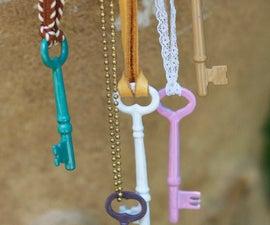 Enameled Vintage Keys Necklace