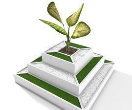 Pyramide Planter, 3D Printed