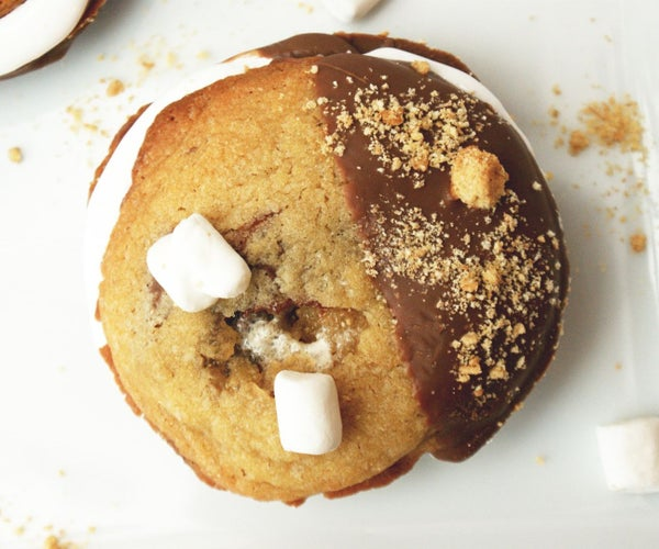 Ultimate S'mores Chocolate Chunk Cookie Sandwiches
