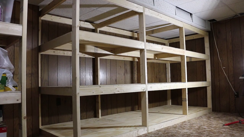 Picture of Giant Shelves Made From 2x4s and Plywood