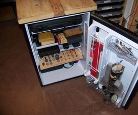 Tool Cabinet / Bench From Old Fridge