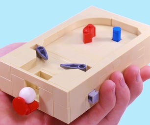 Working Mini Lego Pinball Machine