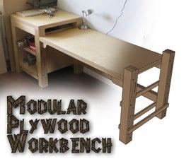 Modular Plywood Workbench
