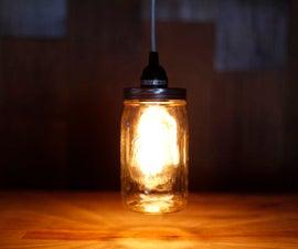 How to Make Mason Jar Pendant Lights