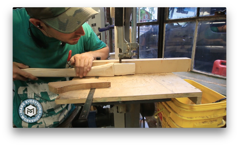 Shaping the Top of the Handle to Receive the Axe Head.