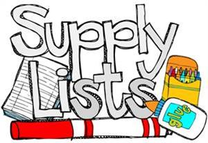 Picture of Supply List!!!