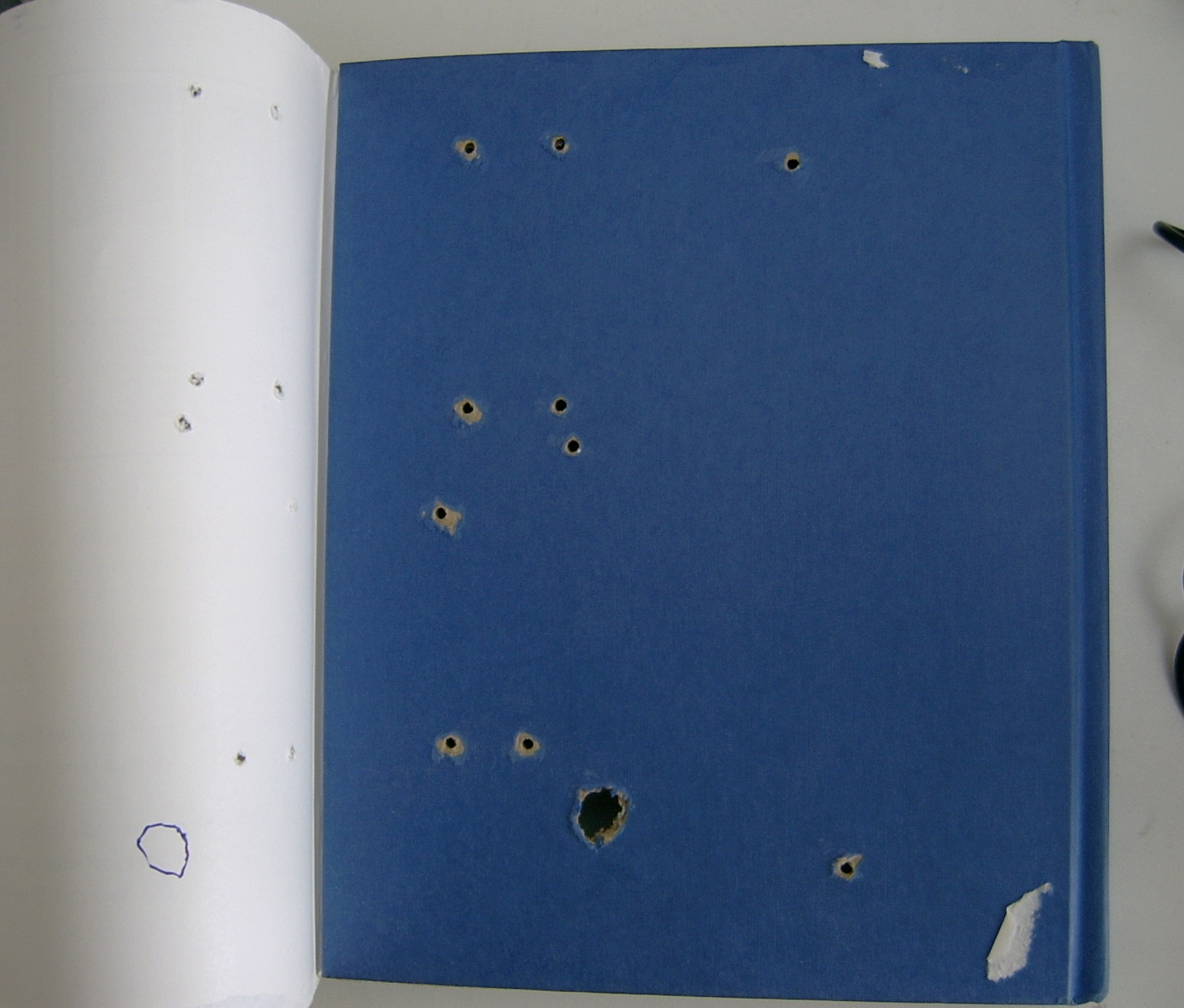 Picture of Holes for Attaching Circuit Boards