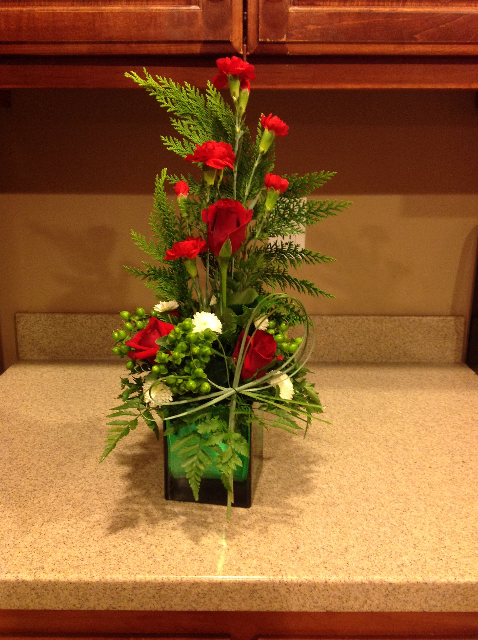 Christmas Flower Arrangements.How To Make A Christmas Flower Arrangement 13 Steps With