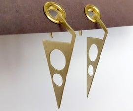 Sheet Metal Gauged Earrings