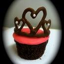 Chocolate Tiara Cupcake Toppers
