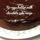 No Milk, Eggs, Butter Chocolate Cake