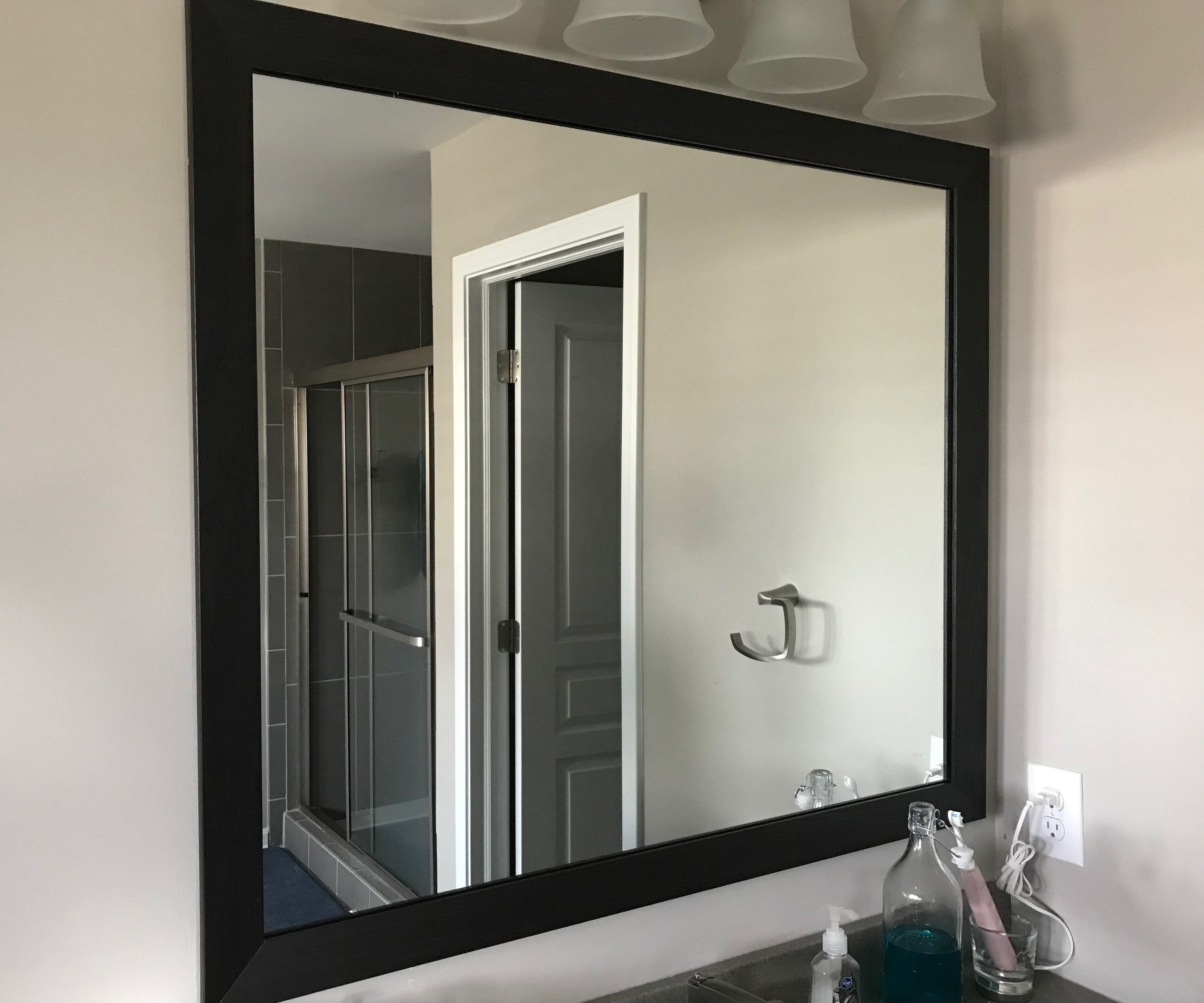 Cheap Easy Anyone Can Diy Mirror Frame 3 Steps Instructables