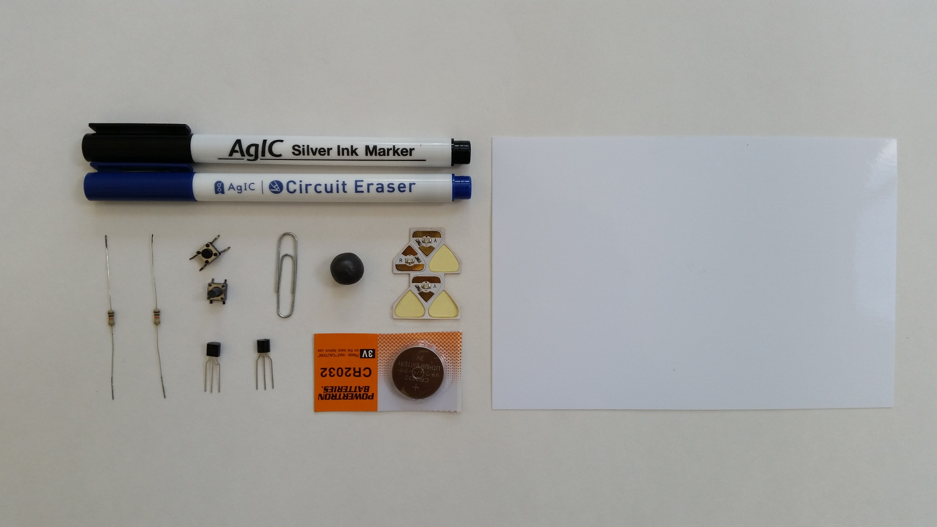 Picture of Materials and Template