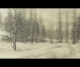 Drawing a Landscape with Pencil // Timelaps Art Video