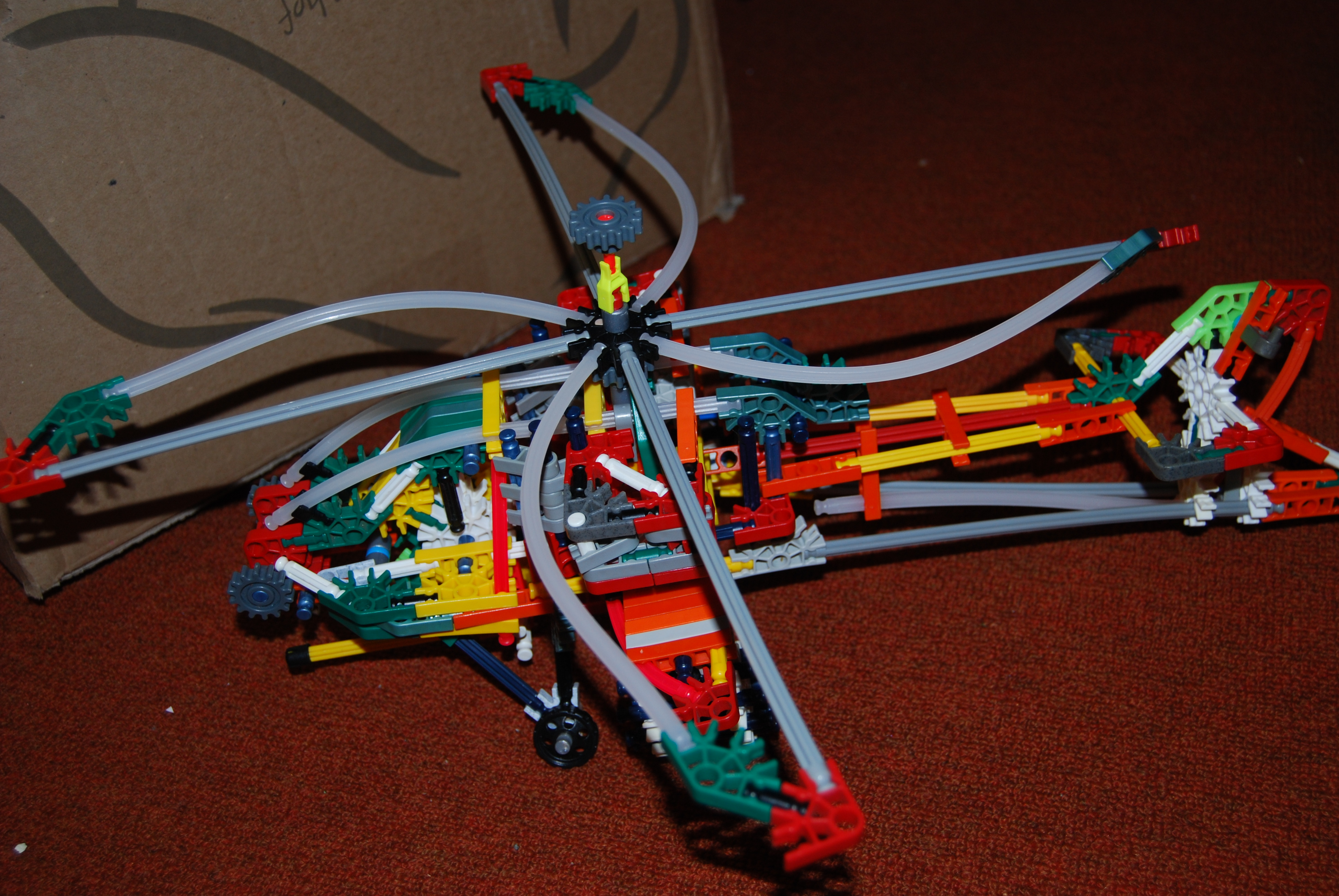 Picture of Knex Apache Helicopter Model