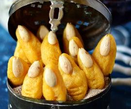 Baked Mashed Potato Witch Fingers