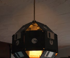 Floppy Disk Lampshade