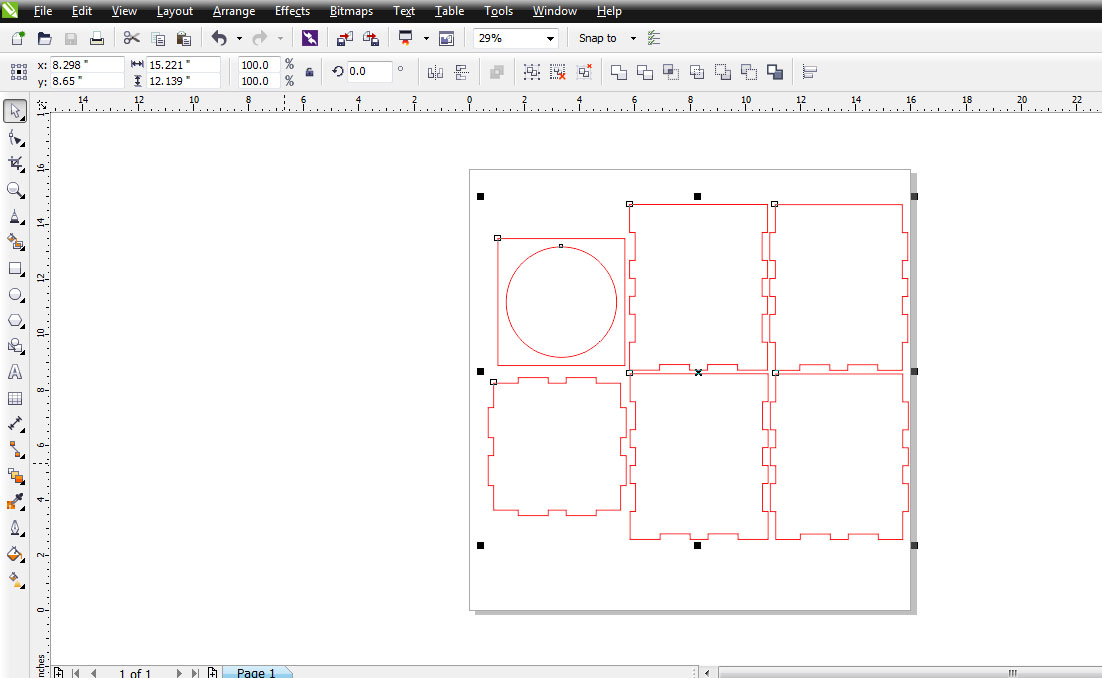 Picture of Design in Corel Draw