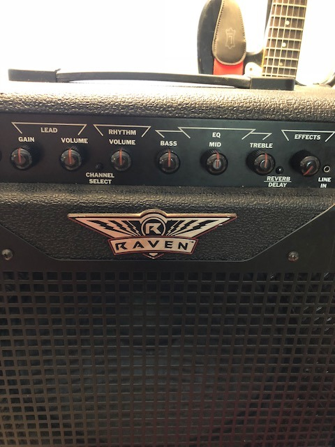 Picture of Adjust Sound Controls on the Amplifier and Guitar.