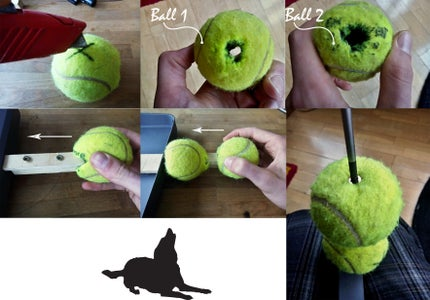 Attach the Tennis Balls to the Handle