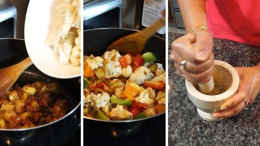 Adding the Vegetables
