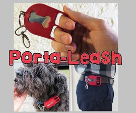 Porta-leash:可穿戴口袋尺寸的缩回皮带